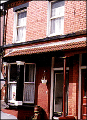 John Lennon's first home: 9 Newcastle Road, Liverpool, England.