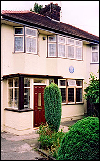 Mendips, Mimi and George Smith's home at 251 Menlove Avenue, Woolton, Liverpool, England. John Lennon lived here from early childhood until he left home to tour the world as a member of The Beatles.