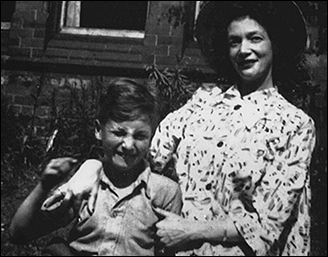 John Lennon with his mother, Julia Stanley.
